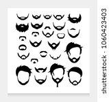 hair beard mustache hairstyle | Shutterstock .eps vector #1060423403