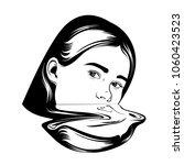 vector hand drawn illustration... | Shutterstock .eps vector #1060423523