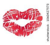 red lips symbol  | Shutterstock .eps vector #1060427573