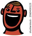 laughing man cartoon portrait | Shutterstock .eps vector #1060430123