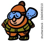 young snowboarder equipped and... | Shutterstock .eps vector #1060430213