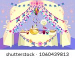 at a party in june  typical... | Shutterstock .eps vector #1060439813