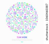 teamwork concept in circle with ... | Shutterstock .eps vector #1060460387