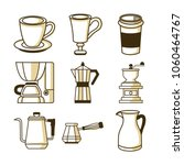 coffee shop related equipment... | Shutterstock .eps vector #1060464767