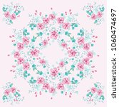 scarf floral print. russian... | Shutterstock . vector #1060474697