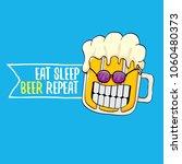 eat sleep beer repeat vector...   Shutterstock .eps vector #1060480373