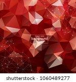 geometric red polygonal... | Shutterstock .eps vector #1060489277