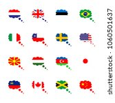 icon flag with italy  chili ... | Shutterstock .eps vector #1060501637