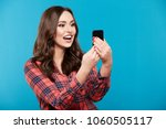 cute young girl with nude make... | Shutterstock . vector #1060505117