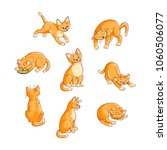 sketch cute cat animal in... | Shutterstock .eps vector #1060506077