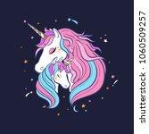 unicorn family. love. magic.... | Shutterstock .eps vector #1060509257