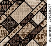 coffee. abstract coffee pattern ... | Shutterstock .eps vector #1060536077