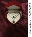Golden Necklace  Sapphire...