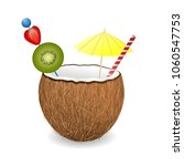 coconut cocktail with... | Shutterstock .eps vector #1060547753