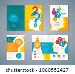 cover book design set  colorful ... | Shutterstock .eps vector #1060552427