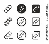 black chain or link icon set.... | Shutterstock .eps vector #1060559063