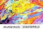 bright artistic splashes.... | Shutterstock . vector #1060589813