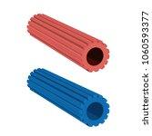 foam roller sports equipment.... | Shutterstock .eps vector #1060593377