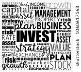 invest word cloud collage ... | Shutterstock .eps vector #1060617563