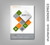 brochures book or flyer with... | Shutterstock .eps vector #1060639823