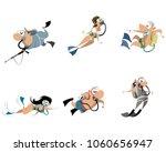 vector illustration of set of... | Shutterstock .eps vector #1060656947
