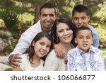 happy attractive hispanic... | Shutterstock . vector #106066877