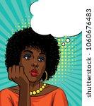 vector retro illustration pop... | Shutterstock .eps vector #1060676483