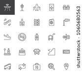 Airport Outline Icons Set....