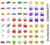ultimate set of modern emojis ...   Shutterstock .eps vector #1060686977