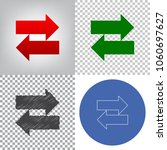 two arrows left right sign.... | Shutterstock .eps vector #1060697627