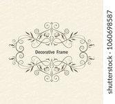 vector decorative frame.... | Shutterstock .eps vector #1060698587