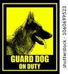 guard dog on duty sign   vector | Shutterstock .eps vector #1060699523