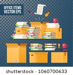 paper documents and file... | Shutterstock .eps vector #1060700633