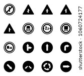 solid vector icon set   no... | Shutterstock .eps vector #1060724177
