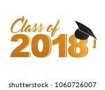 class of 2018 golden sign... | Shutterstock .eps vector #1060726007