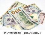 group of dollars bill 100 50 ... | Shutterstock . vector #1060728827