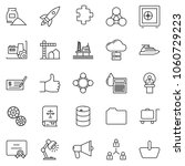 thin line icon set   check... | Shutterstock .eps vector #1060729223