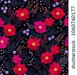 seamless floral pattern.... | Shutterstock .eps vector #1060760177