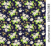 floral pattern. cute flowers on ... | Shutterstock .eps vector #1060761383