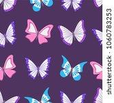 butterflies. summer seamless... | Shutterstock .eps vector #1060783253