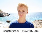 beautiful teenager tourist male ...   Shutterstock . vector #1060787303
