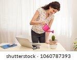 beautiful business woman...   Shutterstock . vector #1060787393