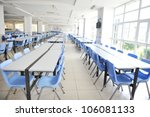 clean school cafeteria with...   Shutterstock . vector #106081133