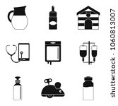 vet doctor icons set. simple... | Shutterstock .eps vector #1060813007