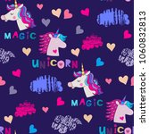 awesome seamless pattern with... | Shutterstock .eps vector #1060832813