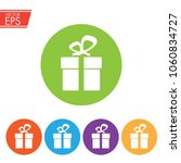 gift box with ribbon icon.... | Shutterstock .eps vector #1060834727