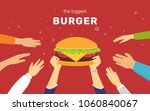 the biggest burger concept... | Shutterstock .eps vector #1060840067
