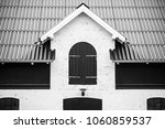 black and white photo of a...   Shutterstock . vector #1060859537