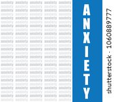 anxiety word vector background | Shutterstock .eps vector #1060889777