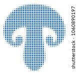 champignon mushroom halftone... | Shutterstock .eps vector #1060890197